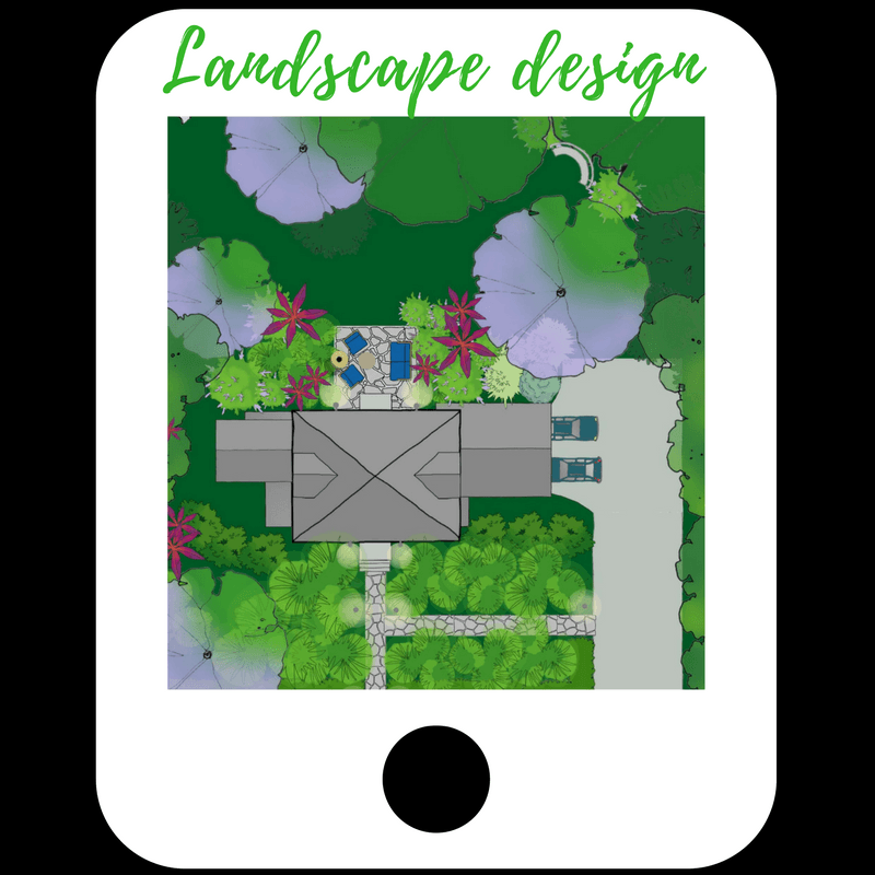 picture of landscape design app on an Ipad