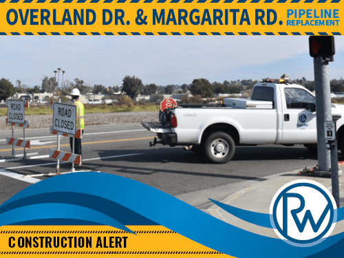 Overland Drive and Margarita Road construction notice