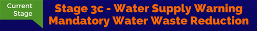 Stage 3a - Water Supply Warning Mandatory Water Waste Reduction