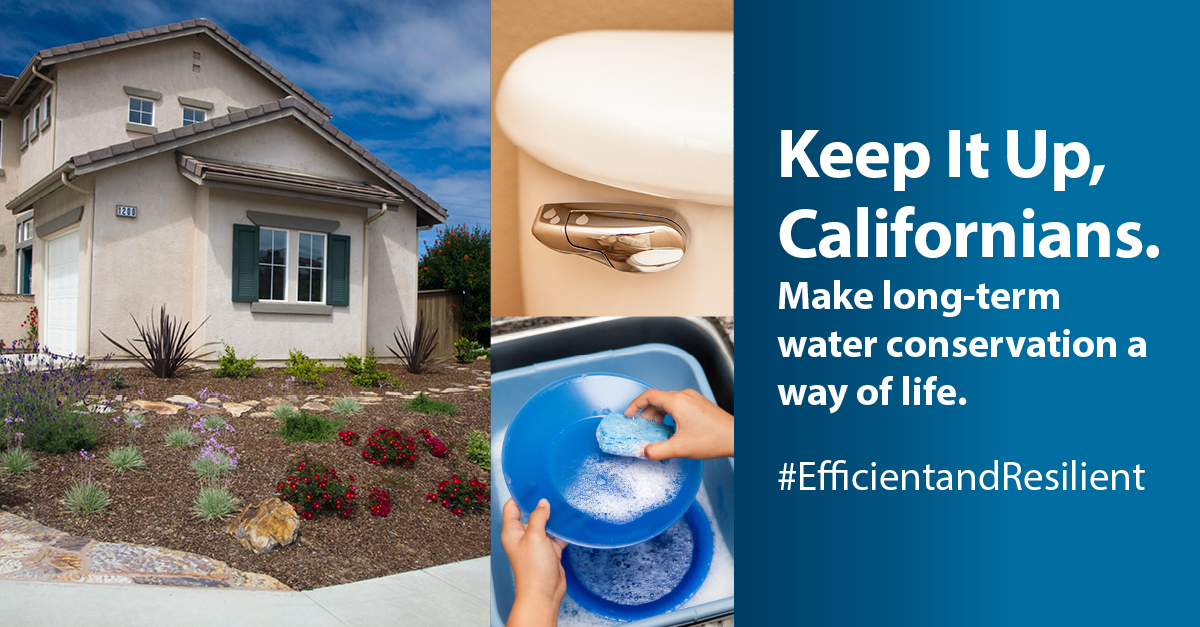 Keep It up, Californians - Make Long-Term Water Conservation a Way of Life Opens in new window